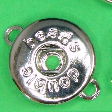 Click Button Druckknopf versilbert Ring silber Gr 18