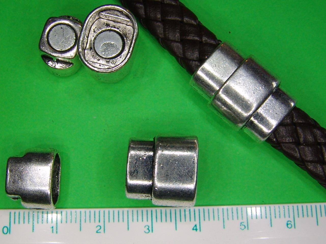 magnet endkappen verschluss f r flechtband zum kleben. Black Bedroom Furniture Sets. Home Design Ideas