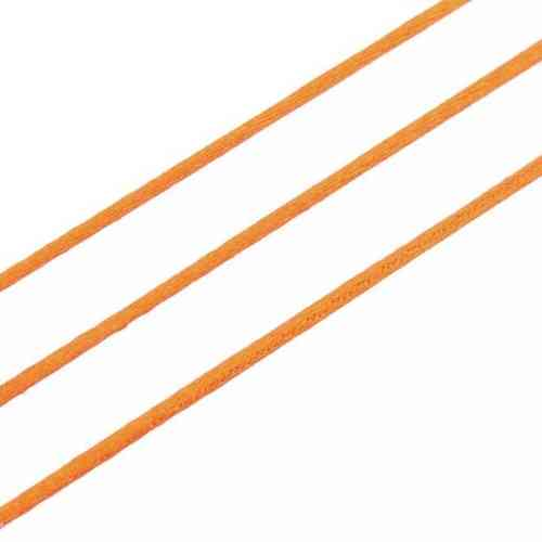 5m Satinband orange Ø1,5mm Kumihimo