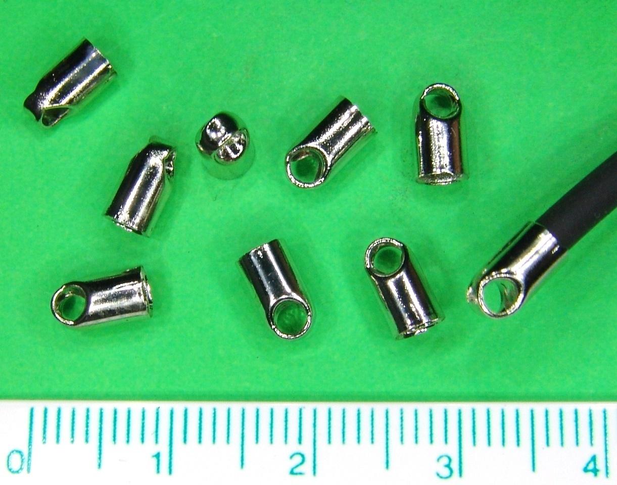 40 leichte Endkappen für runde Bänder bis Ø3mm große Öse kaufen