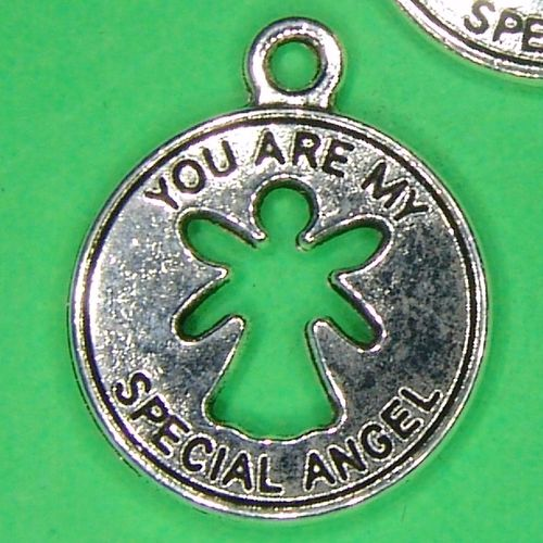 Engel Plakette rund You are my special angel Metallanhänger