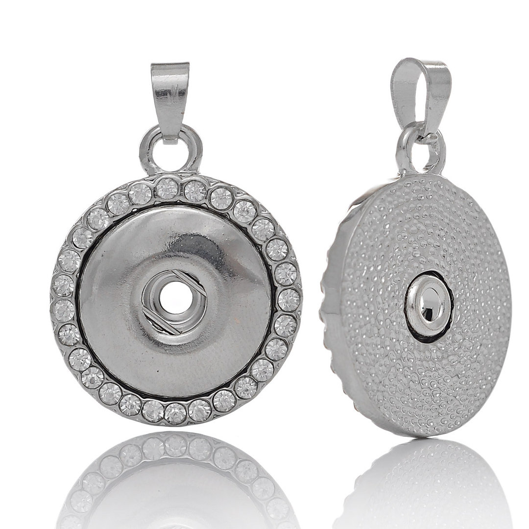 Sonderpost Leder Schlüsselanhänger Rund für Druckknöpfe 6mm Schwarz
