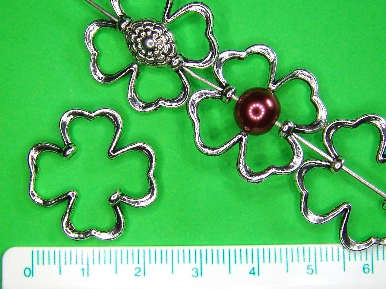 2x Rahmenperle Kleeblatt Metall - für Perlen bis Ø8mm kaufen